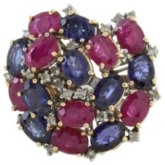 Luise Sapphire Ruby Diamond Ring