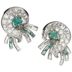 J. E. Caldwell Emerald and Diamond Earrings