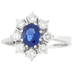 Bucherer Sapphire and Diamond Set Gold Ring