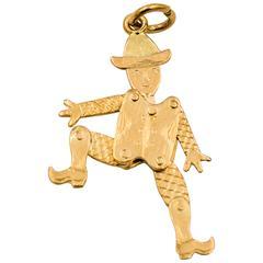 Articulated Dutch Man Gold Charm