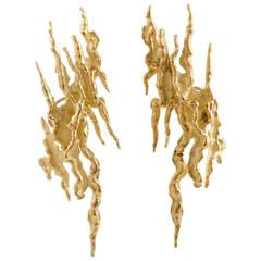 1970s Chaumet Yellow Gold Clip-On Earrings
