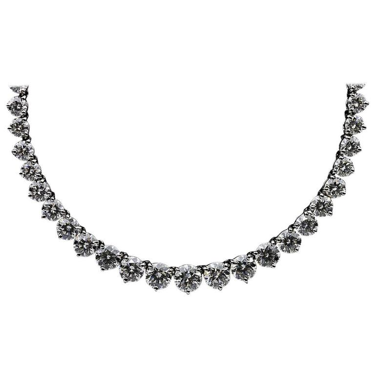 natural style index graduated quality diamond jewelry riviera necklace