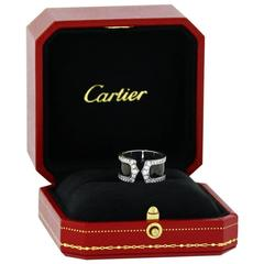 Cartier Black Lacquer Diamond White Gold Double C Ring