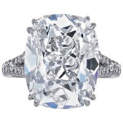 GIA Certified 8.50 Carat F/VS2 Cushion Cut Diamond Ring