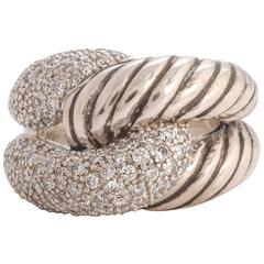 David Yurman Diamond Pave Infinity Cable Ring