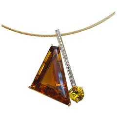 Michael Kneebone Madiera Citrine Diamond Citrine Pendant