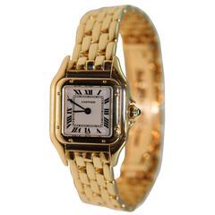 Cartier Yellow Gold Panthere Small Quartz Wristwatch