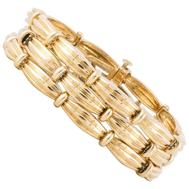 Tiffany & Co. Triple Strand Yellow Gold Bracelet