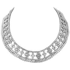 Marcus & Co. 90 Carats Of  Diamonds Necklace