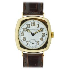 Patek Philippe Yellow Gold Art Deco Cushion Wristwatch