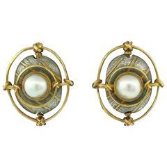 Pearl Earrings by Carolyn Morris Bach
