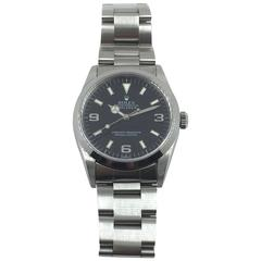 Rolex Stainless Steel Oyster Perpetual Explorer Wristwatch