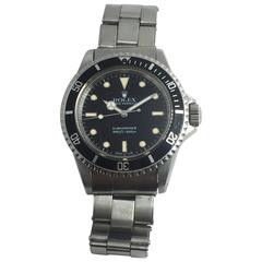 Rolex Stainless Steel Oyster Perpetual Submariner Automatic Wristwatch Ref 5513