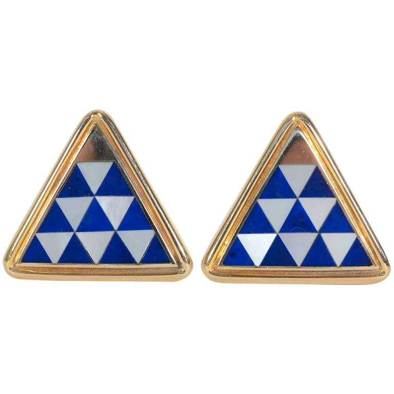 Asch Grossbardt Inlaid Stone Cufflinks 1