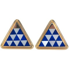 Asch Grossbardt Inlaid Stone Cufflinks