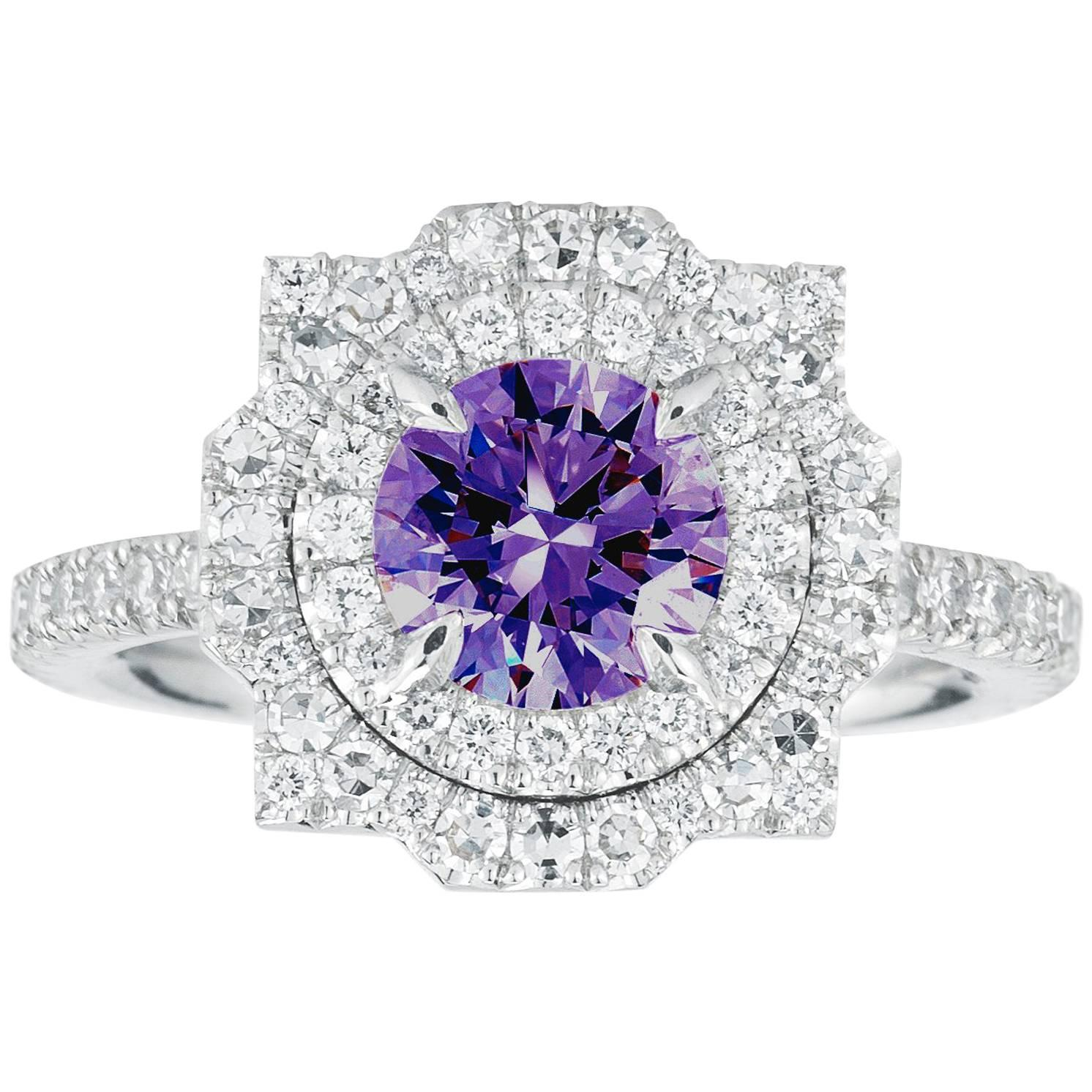 purple round web engagement products artemer and diamond rings pear ooak ring sapphire
