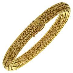 Ilias Lalaounis Yellow Gold Mesh Bracelet