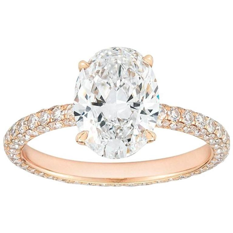 stacking band oval design diamond rings carat moissanite engagement jewellery ring gold halo thin rose