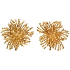 Tiffany & Co. Anemone Gold Earclips