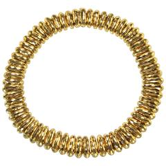 Henry Dunay Hammered Gold Necklace
