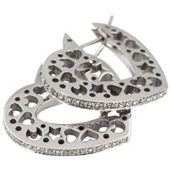 David Morris Diamond Heart Earrings