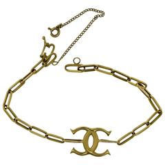 Cartier Vintage Yellow Gold Spartacus Chain Double C Bracelet