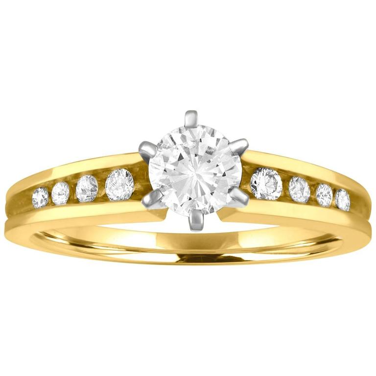 0.50 Carats Diamond Gold Engagement Ring
