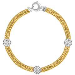 0.51 Carats Diamond Double Chain Gold Bracelet