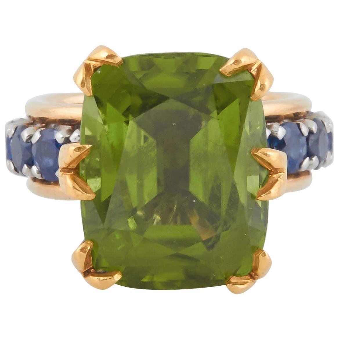 Tiffany & Co. Schlumberger Peridot Ring