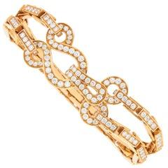 Cartier Double Row Diamond Agrafe Bracelet