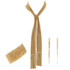 Boucheron Delilah Gold Scarf Bracelet Earring Set