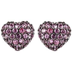 Chopard Heart Earrings Pink Sapphire 2.47 Carat