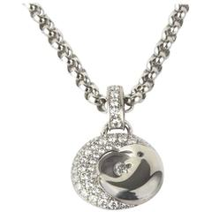 Chopard Happy Diamonds Moon White Gold Pendant