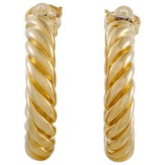 Piaget Yellow Gold Hoop Clip-On Earrings