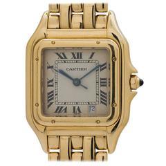 Cartier Yellow Gold Panther Medium Quartz Wristwatch circa 1980s