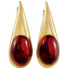 Pomellato Garnet Yellow Gold Drop Earrings