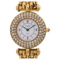 Van Cleef & Arpels Ladies Yellow Gold Diamond Set Sport Model Quartz Wristwatch