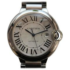 Cartier Stainless Steel Ballon Bleu Automatic Bracelet Wristwatch