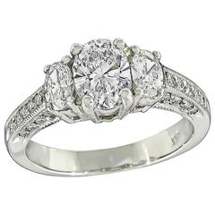 Enticing GIA Certified 1.00 Carat Diamond Engagement Ring