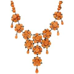 Luise Coral Diamond Necklace