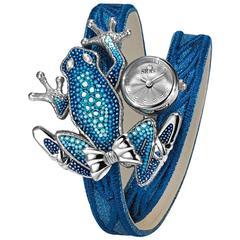 Sicis Ladies Stainless Steel Blue Micromosaic Nymph Manual Wristwatch