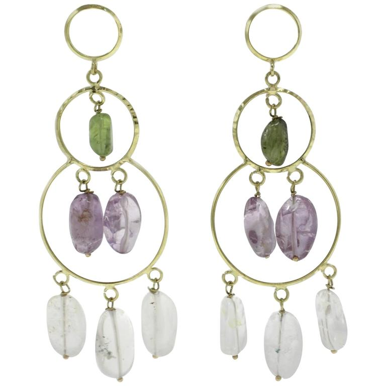 Luise Yellow Gold Chandelier Earrings
