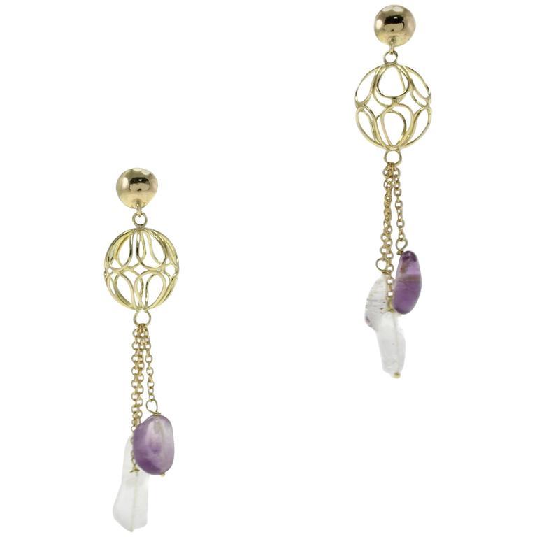 Luise Gold Sphere Drop Earrings