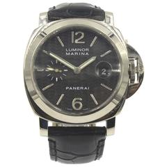 Panerai Luminor Marina 18 Karat White Gold Watch Box and Papers