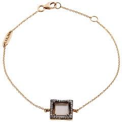 Suzanne Kalan Smokey Quartz and Champagne Diamond 18 Karat Rose Gold Bracelet
