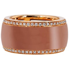 Rose Gold Corian Diamond Pave Ring
