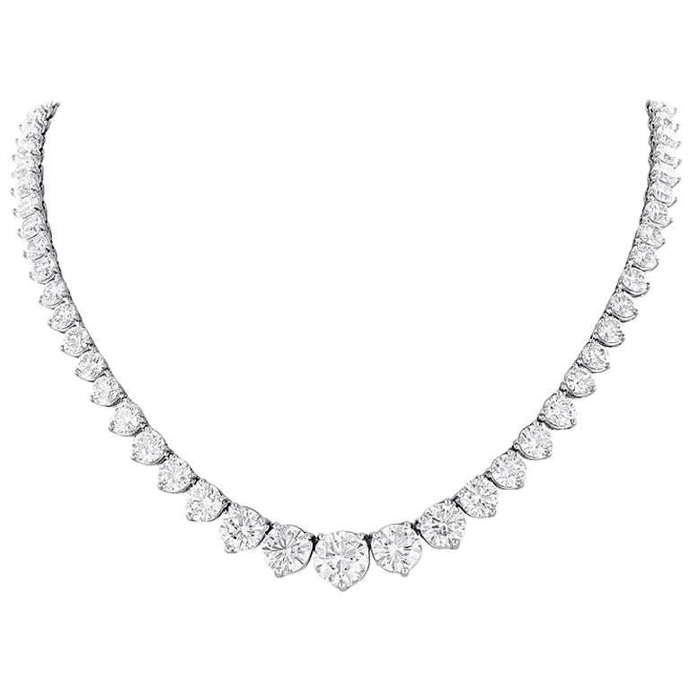 44.60 Carat Diamond Riviere Necklace