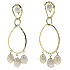 Luise Yellow Gold Drop Earrings