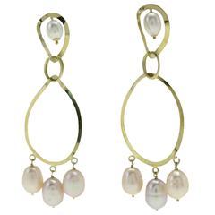 Luise Yellow Gold Drop Earrings