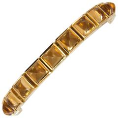 Laura Munder Citrine Sugarloaf Yellow Gold Bracelet